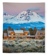 Ranch House And Sisters Fleece Blanket