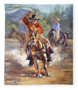 Ranch Rodeo Time Fleece Blanket