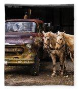 Ranch Transportation Fleece Blanket