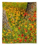 Ranch Wildflowers And Trees 2am-110522 Fleece Blanket