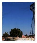 Ranch Windmill Fleece Blanket