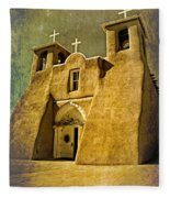 Ranchos Church In Old Gold Fleece Blanket