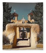 Ranchos Gate In Gum Bichromate Fleece Blanket
