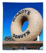 Randy's Donuts Fleece Blanket