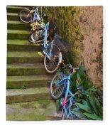 Range Of Bikes Fleece Blanket