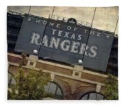 Rangers Ballpark In Arlington Color Fleece Blanket