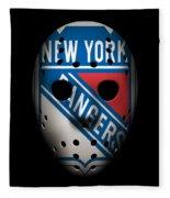 Rangers Goalie Mask Fleece Blanket