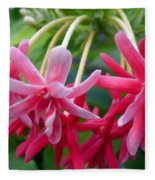 Rangoon Creeper Flower Fleece Blanket