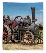 Ransomes Steam Engine Fleece Blanket