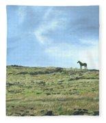 Rapa Nui Horse Fleece Blanket