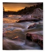 Rapids At Dawn Fleece Blanket