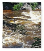 Rapids Of The Swift River Kancamagus Hwy View White Mountains Nh Fleece Blanket