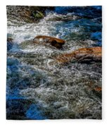 Rapids On The Gore Fleece Blanket