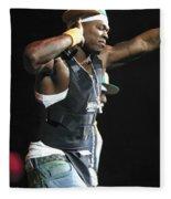 Rapper Fifty Cent Fleece Blanket