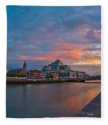 Rare Irish Sunset Fleece Blanket