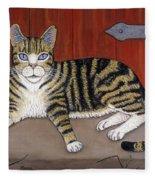 Rascal The Cat Fleece Blanket