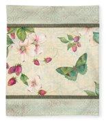 Raspberry Bliss Fleece Blanket