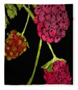 Raspberry Fabric Fleece Blanket