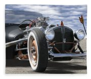 Rat Rod On Route 66 2 Panoramic Fleece Blanket