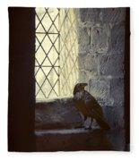 Raven By Window Fleece Blanket