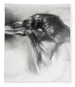 Raven Head Fleece Blanket