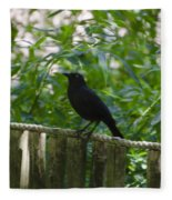 Raven In The Wild Fleece Blanket