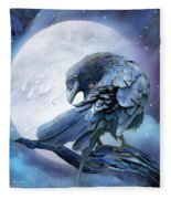 Raven Moon Fleece Blanket