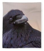 Raven Portrait Fleece Blanket