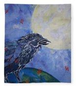 Raven Speak Fleece Blanket