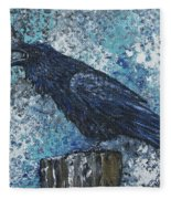 Raven Study 3 Fleece Blanket