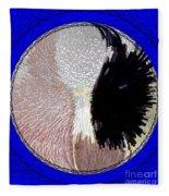 Raven-wold Mandala Yantra Fleece Blanket