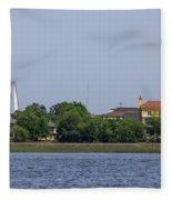 Ravenel Bridge Towers Fleece Blanket