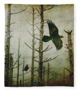 Ravens Of The Mist Artistic Expression Fleece Blanket