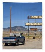 Rawlins Wyoming - Grandma's Cafe Fleece Blanket