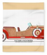 Ray Dietrich Packard Victoria Roadster Concept Design Fleece Blanket