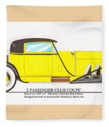1922 Mercedes Benz By Raymond Dietrich Z Fleece Blanket