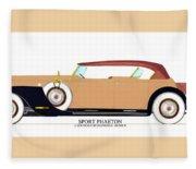 Raymond H Dietrich Packard Sport Phaeton Concept Fleece Blanket