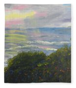Rays Of Light At Burliegh Heads Fleece Blanket