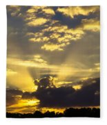 Rays Of Sunlight Fleece Blanket