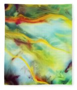 Rays Of The Sun Watercolor Abstraction Painting Fleece Blanket