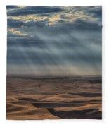 Rays On The Palouse Fleece Blanket