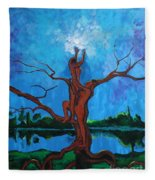 Reach For The Light My Sister Fleece Blanket