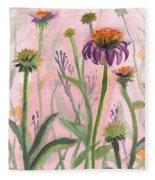 Reaching Flowers Fleece Blanket