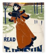 Read The Sun Fleece Blanket