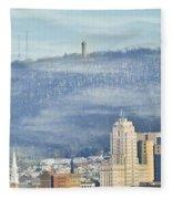 Reading Skyline Fleece Blanket