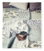 Reading Time Fleece Blanket