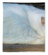 Ready For A Nap Fleece Blanket