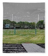Ready For The Football Season Panorama Digital Art Fleece Blanket