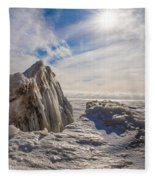 Ready To Let Loose Ice Formation Fleece Blanket