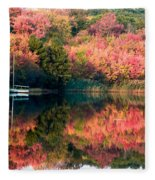 Ready To Sail In The Fall Colors Fleece Blanket